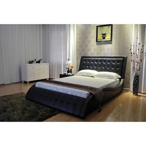Greatime Extra-Wavy Vinyl Platform Bed