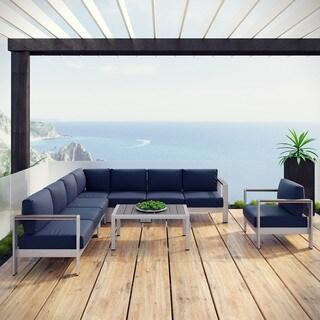 Shore 7-piece Aluminum Outdoor Patio Sectional Sofa Set