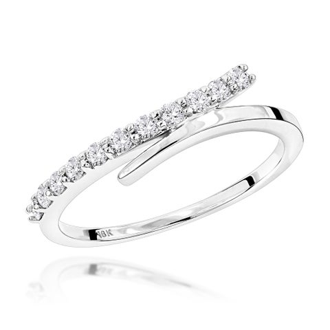 Luxurman 18k Gold 1/3ct TDW Designer Diamond Wedding Band