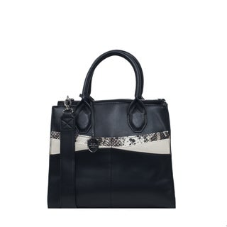 London Fog Natalie Black Satchel Handbag