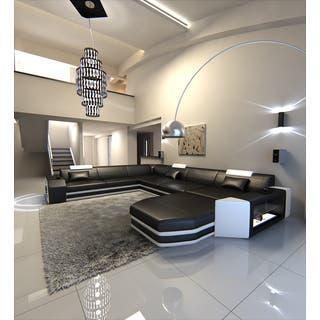living room sectionals. Modern U Shaped Sectional Sofa Dallas XXL With LED Lights Sofas For Less  Overstock com