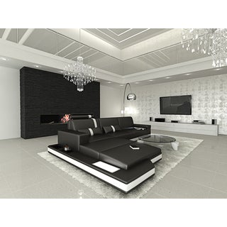 Design L-shaped Sectional Sofa Los Angeles with Lights