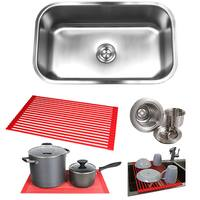 Single-Bowl Undermount Steel Kitchen Sink