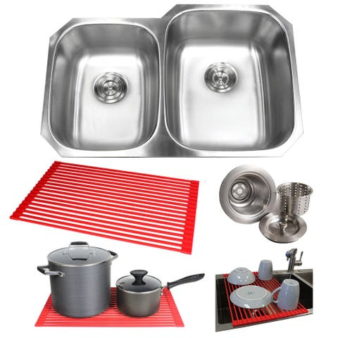 Undermounted Steel Double Kitchen Sink