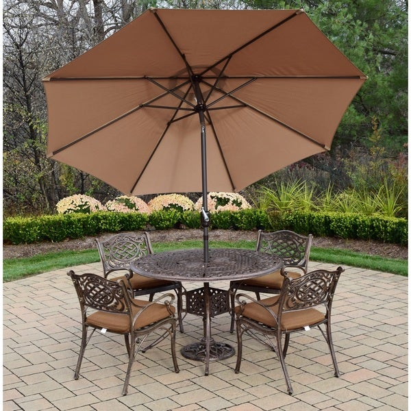 Shop Dakota Champagne and Antique Bronze 7-piece Umbrella ...