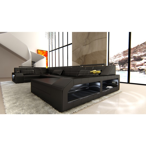 Shop Design Sectional Sofa Houston with LED Lights - Free Shipping ...