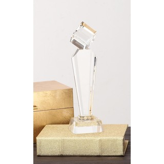 Urban Designs Diamond Tower Clear Crystal Trophy Sculpture