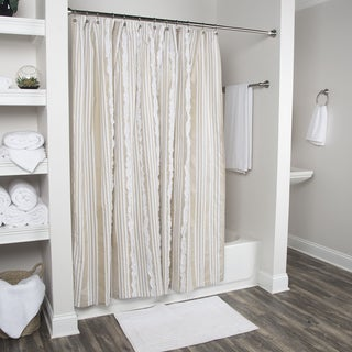 Arden Loft Geometric Natural White 72 x 72-inch Shower Curtains