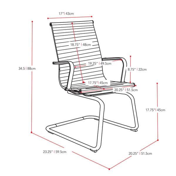 Marvelous Shop Corliving Workspace Black Bonded Leather And Chrome Ibusinesslaw Wood Chair Design Ideas Ibusinesslaworg