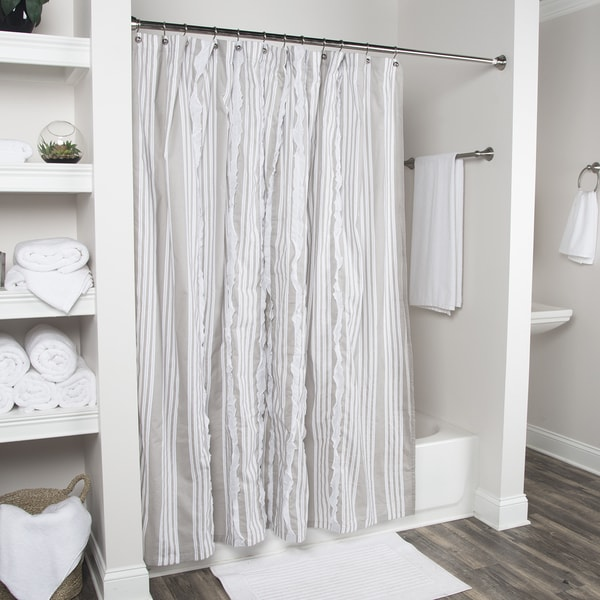 Arden Loft Geometric Grey White 72 X Shower Curtains