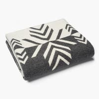 Faribault Vermillion Mirror Charcoal- Natural Wool Throw