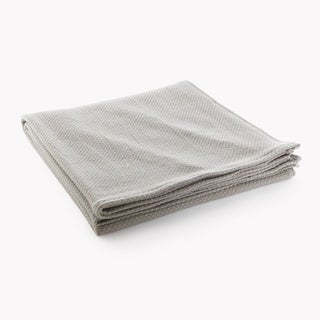 Faribault Thermal Weave Feather-Grey Blanket