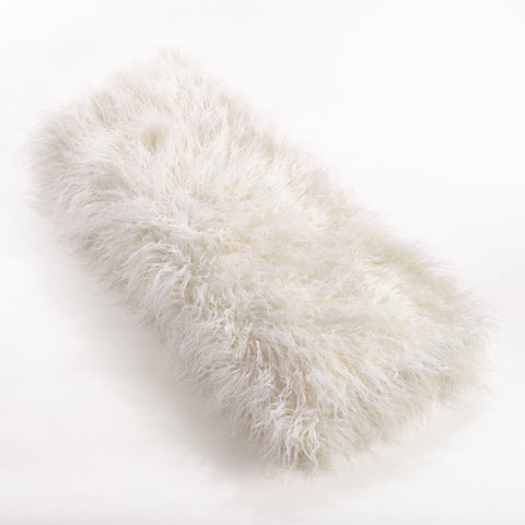 Throw Blanket With Faux Mongolian Fur Design