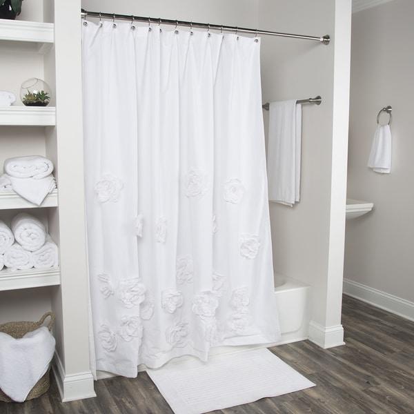 Arden Loft Floral White 72x72 Shower Curtain
