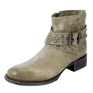 Lane Boots Women's Beltline Olive Leather Cowboy Boots