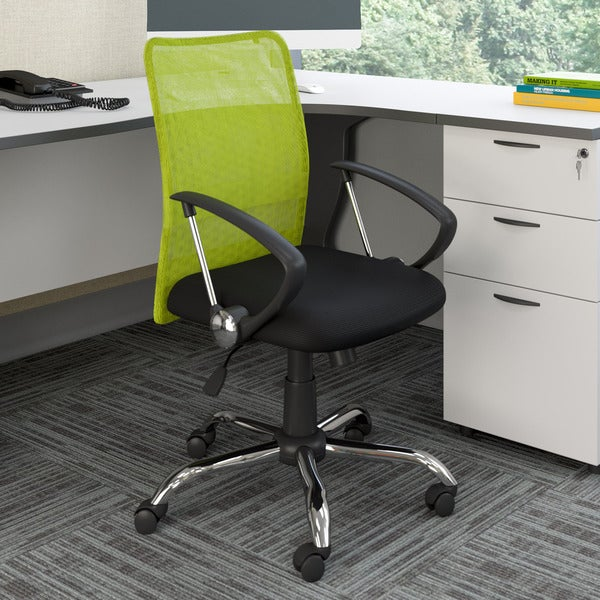 Porch & Den Oakwood Contoured Mesh Back Office Chair