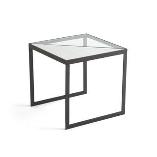 Matte Black and Powder-Coated Side Table