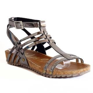 Trieste Women's Ruth Metallic Open-toe Enjoyable Sandals