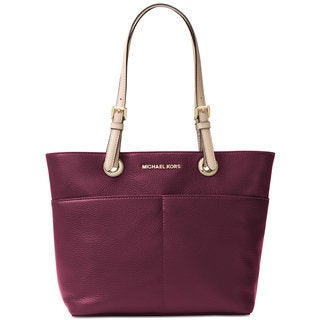 Michael Kors Jet Set Item Plum Leather Top-zip Tote