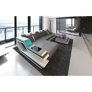 Luxury Sectional Sofa Hollywood L Shape with LED Lights and USB