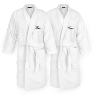 His and Hers Embroidered White Sugarcube Robe|https://ak1.ostkcdn.com/images/products/13232138/P19948453.jpg?impolicy=medium