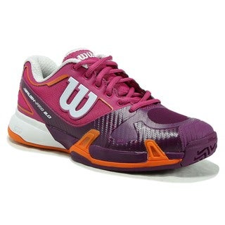 Wilson Rush Pro 2.0 Pink/Purple Synthetic Leather/Mesh Womens Tennis Shoes