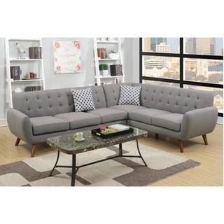 Erts Sectional Sofa Upholstered in Poly Fiber