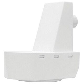 Lithonia Lighting White Plastic 360-Degree Mountable Wall Fixture