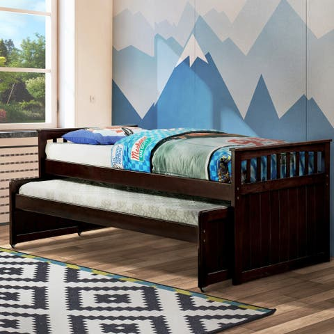 Furniture of America Cill Mission Brown Twin Solid Wood Daybed