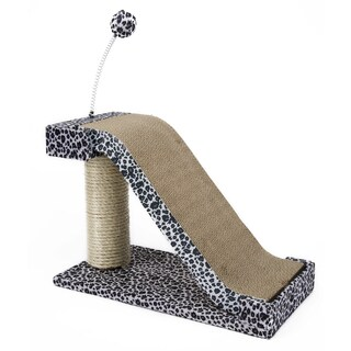 Penn Plax Cat-Life Black/White Sisal Cat Scratching Slope