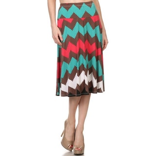Women's Zigzag Striped Skirt