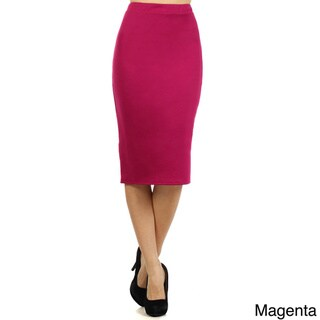 Women's Solid Pencil Skirt