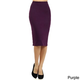 Women's Solid Pencil Skirt (3 options available)