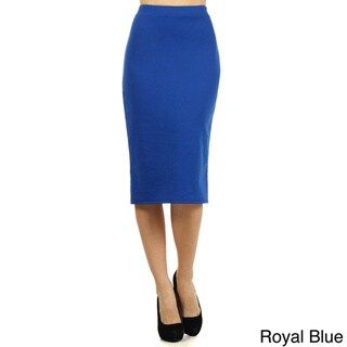 Women's Solid Pencil Skirt