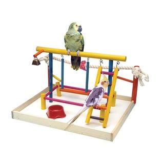 Penn Plax Bird Activity Center Wooden Playground