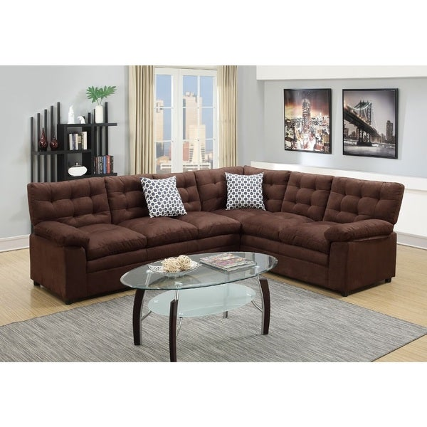 Shop Meghri Sectional Sofa Upholstered In Microfiber Free Shipping