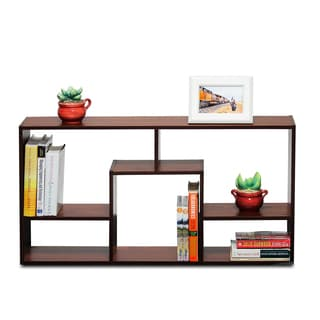 Furinno Boyate Magic Cube 5-grid Walnut Storage Rack
