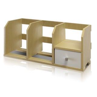 Furinno Pasir Beige Desk Storage Shelf with Bin