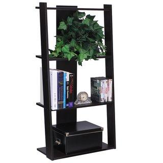 Furinno Hidup Tropika Espresso Tall Ladder Shelf