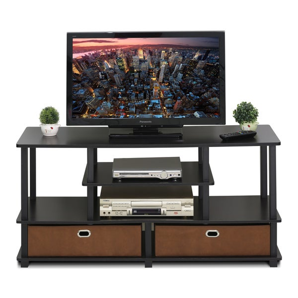 Shop Furinno Jaya Brown Mdf Large Tv Stand For Up To 50 Inch Tv