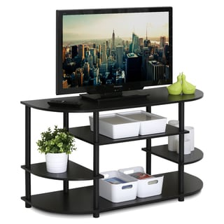 Link to Porch & Den Manchester Brown MDF Corner TV Stand Similar Items in Entertainment Units