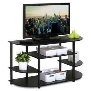 Link to Porch & Den Manchester Brown MDF Corner TV Stand Similar Items in TV Stands & Entertainment Centers