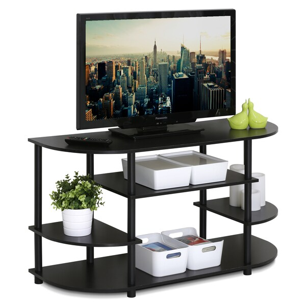 Porch & Den Manchester Brown MDF Corner TV Stand. Opens flyout.
