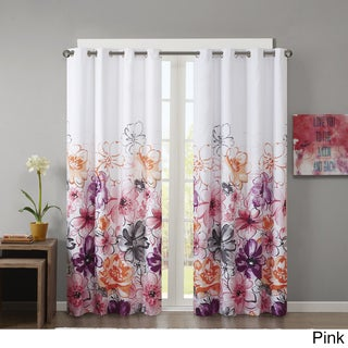 "The Curated Nomad Lurline Printed Lined Blackout Winow Curtain (Option: 50x84""-Pink)"
