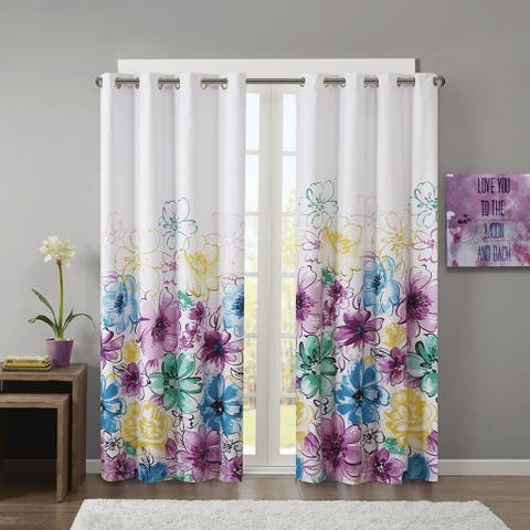 Taylor & Olive Harris Printed Lined Blackout Winow Curtain