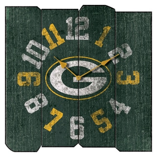 GB Packers Vintage Square Clk