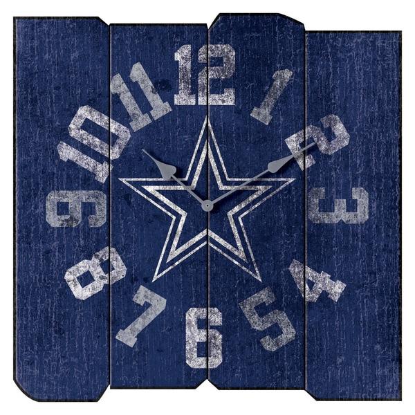 Cowboys Vintage Square Clock