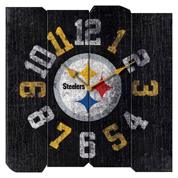 Steelers Vintage Square Clock