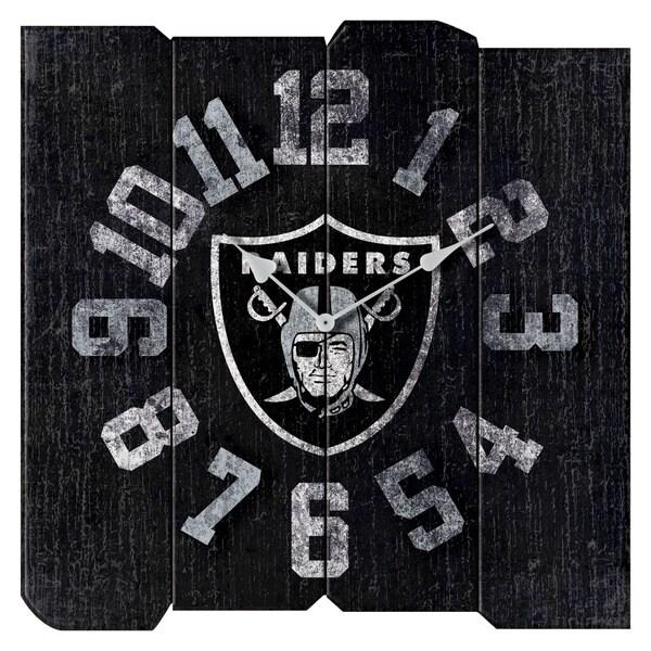 Raiders Vintage Square Clock