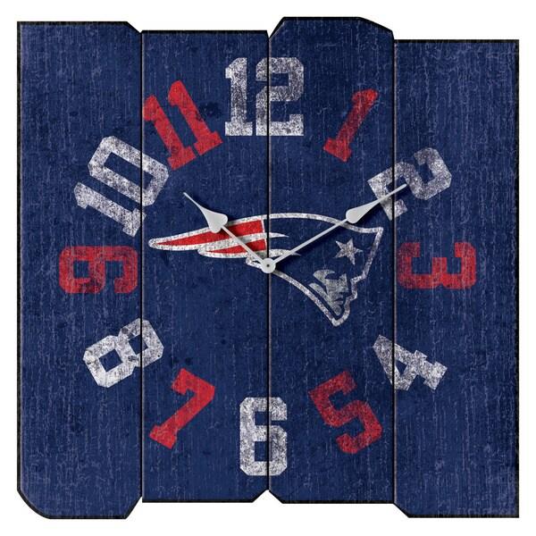 Patriots Vintage Square Clock